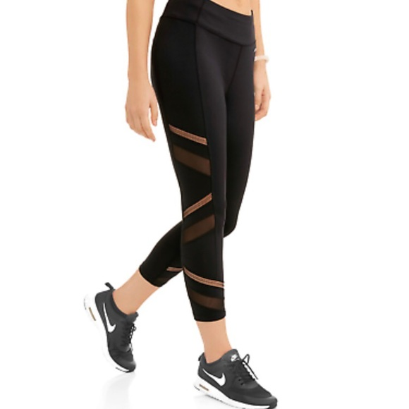 a8be7c2d49aafc Avia Pants | Nwt Active Black Mesh Capri Leggings | Poshmark